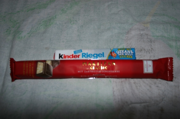 Kinder Riegel and Marzipan