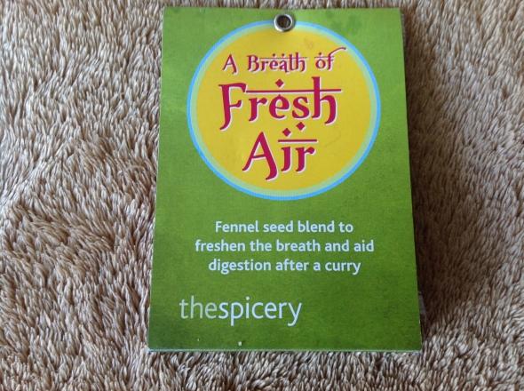 For fresh breath . . .